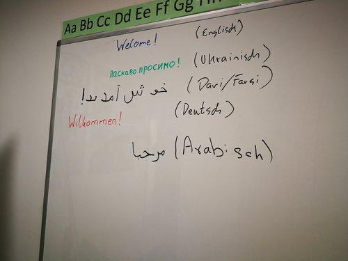Wilkommen in verschiedenen Sprachen