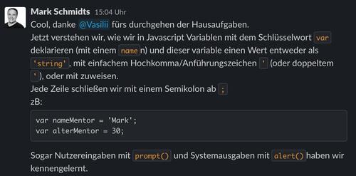 Javascript Wiederholung