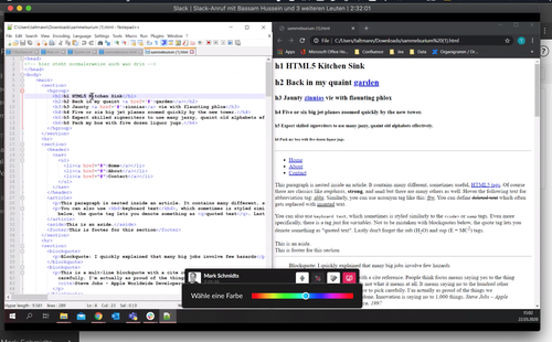 Screensharing HTML
